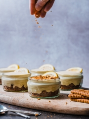 Lemon Mousse With Crumbled Lotus Biscuits