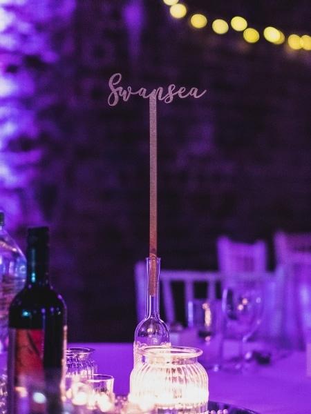 Wedding table setting, London