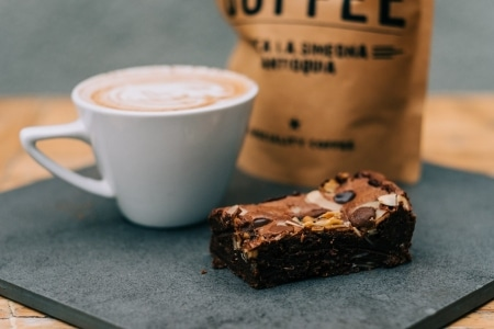 Chandos Deli Brownie and Coffee