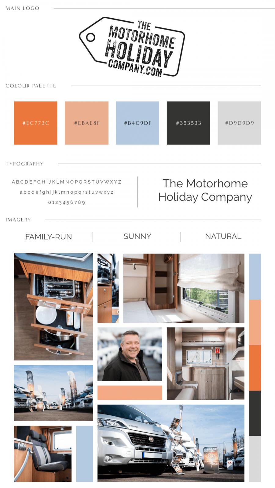 The Motorhome Holiday Company Photography Brand Identity